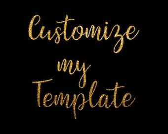 Template Customization *Add on item