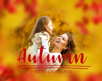 Autumn photo overlays, png overlays, photoshop overlays