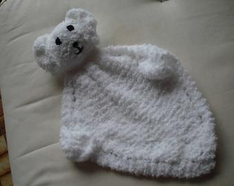 Cuddle Bunny knitted in Chenille Yarn