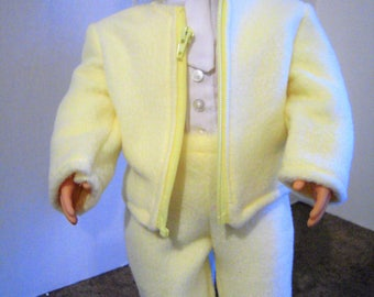 "Fleece jacket and pants for 18"" doll"