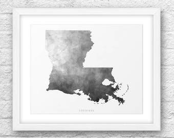 Louisiana Map, Louisiana Print, Louisiana Art, Louisiana State, Louisiana Design, Minimalist Art, Louisiana Printable,Instant Download