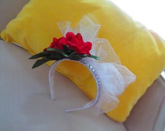 Red Rose Bridal Fascinator