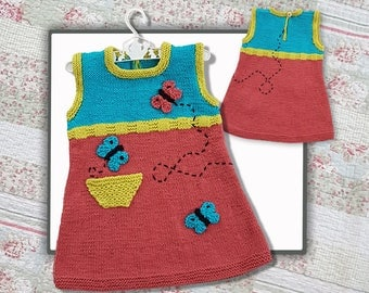 Butterfly Tunic Knitted Dress  (1-5 year old)