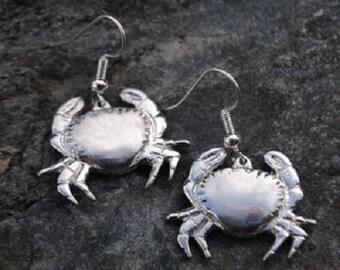 Crab Pewter Earrings