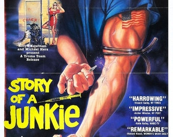 Summer Sale STORY Of A JUNKIE Movie Poster Exploitation Drugs Xxx