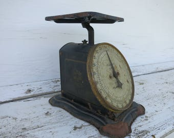 Antique Kitchen Scale Columbia Family Scale Primitive Scale Farmhouse Style Rustic Decor