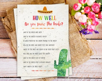 Fiesta Cactus bridal shower games, Fiesta Bridal Shower Games Set, Bridal Shower Games Package, Cactus Games Set, mexican theme party