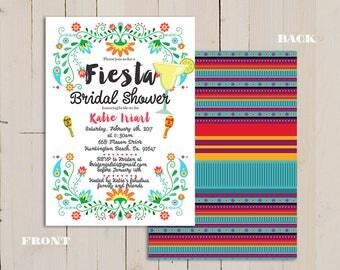 Fiesta Bridal shower invitation, Mexican Bridal Shower Invitation, fiesta invitation, mexican fiesta invitation, Mexican Fiesta Party Invite