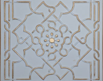 ceiling tiles faux finished white gold color PL09