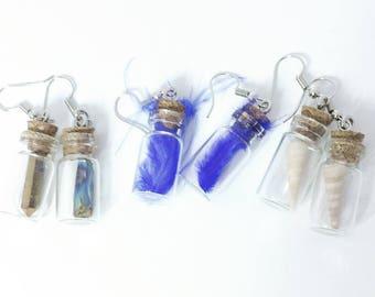 Glass Bottle Earrings