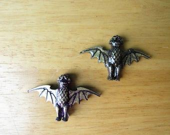 HM Bat Brooch