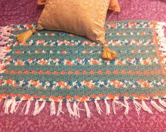 Blanket, throw multicolored - free shipping