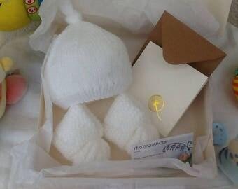 booties newborn Beanie gift set