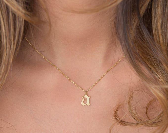 Gothic Choker Necklace - Personalized Choker Necklace - Initial Choker Name Necklace - Name Plate Choker - Personalized Jewelry
