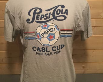 Vintage 1988 Pepsi Cola CASL Cup 50/50 Cartoon Shirt