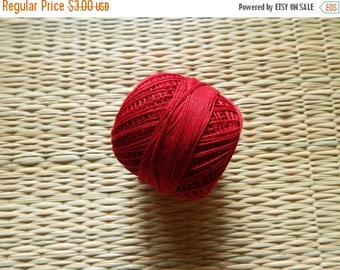 10% OFF Red Crochet Yarn, Mercerized Cotton Yarn, Knitting Yarn, Embroidery Yarn, Cotton Crochet Yarn - 120 Yards