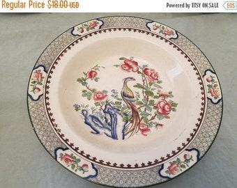 Corona ware Rockery & pheasant Rimmed soup bowl