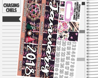 SALE New Years January Monthly Kit 1 #MK1-4 Premium Matte Planner Stickers
