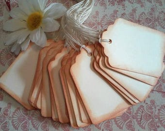 Blank tags, Favor tags, Gift tags, Scrapbooking tags, Price tags, Hang tags, Set of 30 or 100