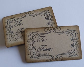 Gift tags, To From tags, Rustic tags, Favor tags