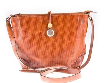Cognac Brown 70's Leather Bag