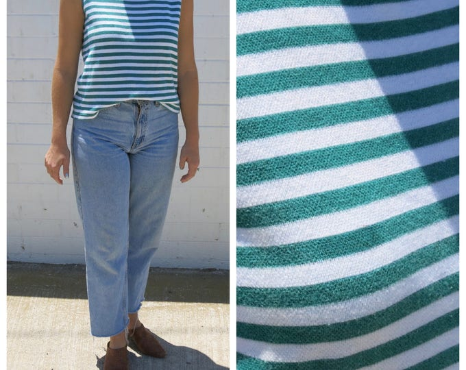 Nautical Green Striped Tank