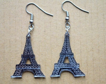 These earrings... Paris and Eiffel Tower