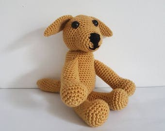 Labrador Dog Toy, Crochet Dog, Crochet Labrador Retriever, Soft Dog Toy, Handmade Crochet Dog, Amigurumi Dog - MADE TO ORDER