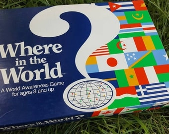 Where In The World Board Game From 1990