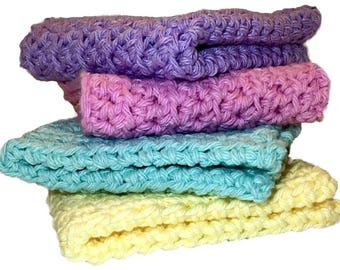 Cotton Dish Cloth, Cotton Wash Cloth, Kitchen item, Crochet Cotton Dishcloth, Bath wash cloth, Cotton Dishcloth, Cotton Dish Rags, Dishcloth