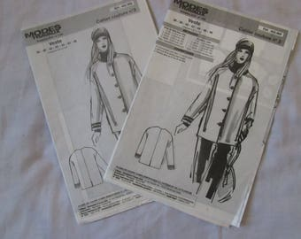 1 set of 2 notebooks sewing patterns and work jacket size 36 to 48