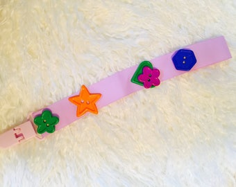 BOUTIQUE Style Colorful bottom, Pacifier clips