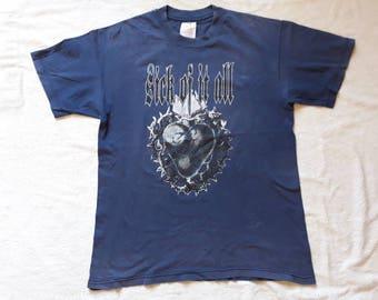 Vintage Rare 1995 Sick Of It All Tshirt . Vtg 90s 1990s NYHC Tee Hardcore Punk Terror Madball