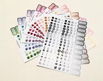 Polyglotte - Decor planner stickers - Erin Condren - Plum Paper - Kikki K - Paperchase - Filofax