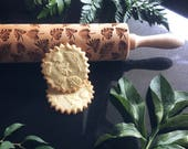 TROPICAL LEAVES, rolling pin, embossing rolling pin, engraved rolling pin by laser,