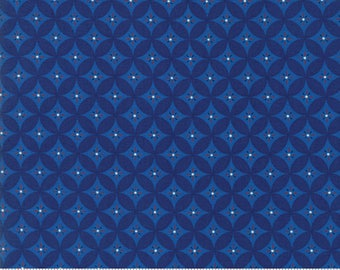 Moda SEW AMERICAN Quilt Fabric 1/2 Yard By Deb Strain - Navy Blue 19786 14