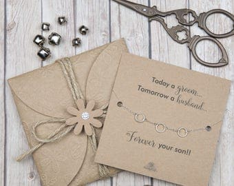 Mother of the groom gifts - silver eternity bracelets - gifts for mom - gifts under 20 - sterling silver bracelets - wedding party gifts
