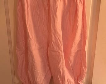 Size 6 Pink and White Candy Stripe Knicker Pants