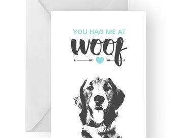 Golden Retriever anniversary card- birthday card, love card, dog birthday card, golden retriever anniversary, golden retriever birthday card