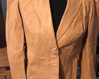 Vintage Leather Pioneer Wear Women's Fitted Jacket