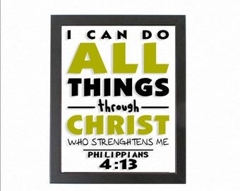 Christian Wall Art - Jesus - I can do all things