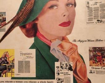 Vintage Magazine Ladies Home Journal October 1951 Vintage Advertisments
