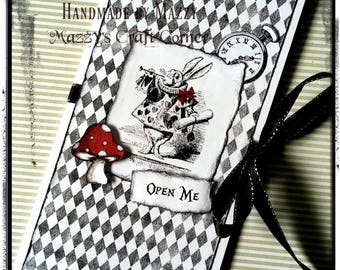 Alice in Wonderland inspired handmade card
