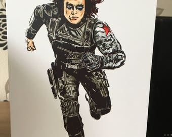 Winter Soldier A5 Greeting Card