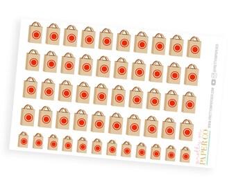 Bullseye Shopping Bags- Planner Stickers