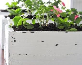 S A L E : Wood Flower Box | Planter Box | Planter | Flower Box | Wood Box | Flowers | Succulents | Farmhouse Decor | Home Decor | Garden | C