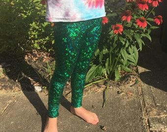 Girls mermaid leggings pants 5/6 ready to ship!! PRIORITY FAST SHIPPING