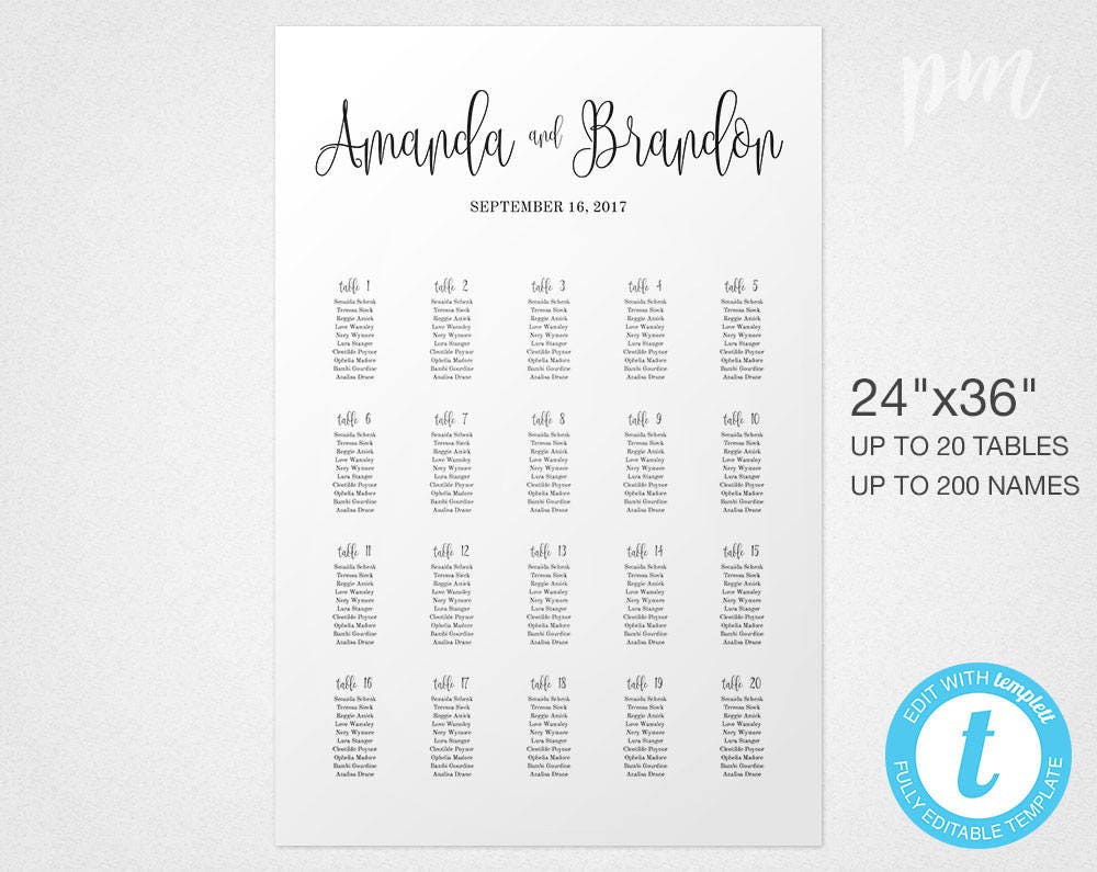 script wedding seating chart sign template wedding seating sign