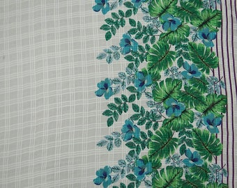 """Off White Fabric, Floral Print, Apparel Fabric, Quilt Material, Indian Fabric, 45"""" Inch Cotton Fabric By The Yard ZBC9023A"""