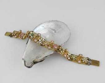 Delicate Pastel Flower Bracelet